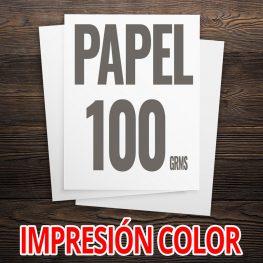 PAPEL 100 GRMS A COLOR